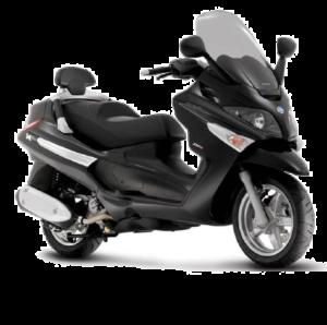 Rent a moto piaggio xevo 400cc 300x298